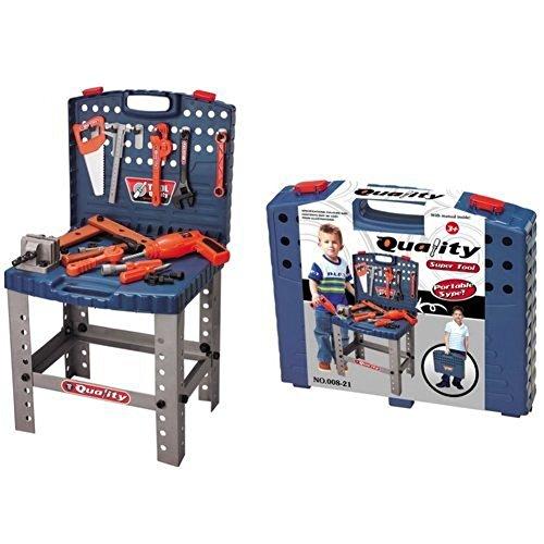 Toy Tool Set Workbench Kids Workshop Toolbench (Kids Toy Tool Set)