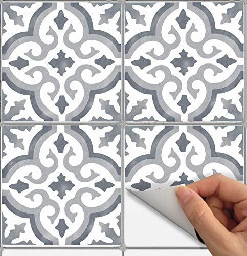 Tile Stickers Marrakesh 24pc 4x4in Peel and Stick for kitchen and bath M009-4 by SnazzyDecal