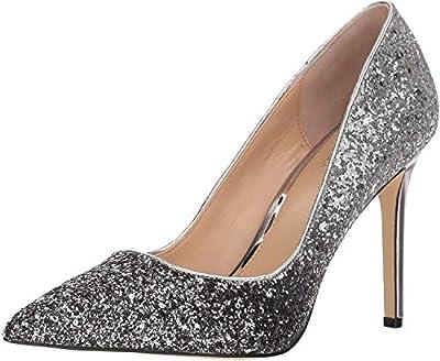 Jewel Badgley Mischka Women's Malta Glitter Pointed Toe Pump Shoe