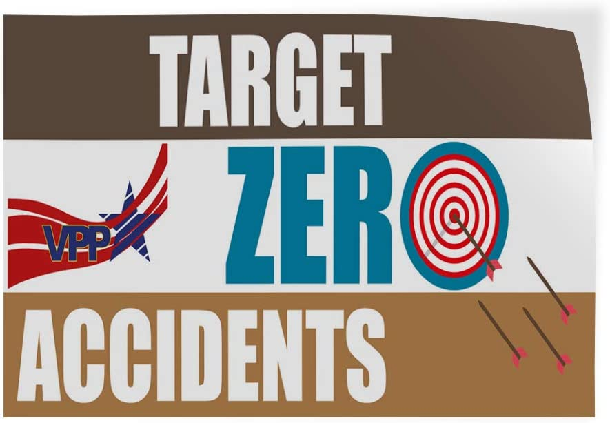 54inx36in Set of 2 Decal Sticker Multiple Sizes Vpp Target Zero Accidents Business Industrial /& Craft Target Outdoor Store Sign Blue