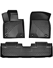 Findway F100 3D Car Floor Mat / Liner ( TPE Rubber) for 2016-2021 Lexus RX350 / RX350L / RX450h All Weather, Digital Measured, Custom Fit, Waterproof. 3-Year Warranty. 2 rows for 1st row and 2nd row - Black