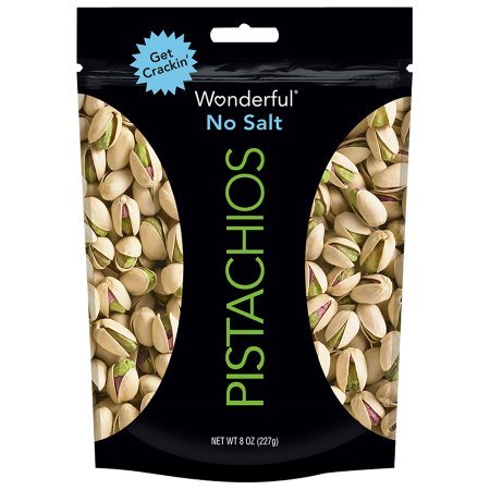 Wonderful No Salt Pistachios 8 oz. Bag - 2 Pack by Wonderful Pistachios & Almonds