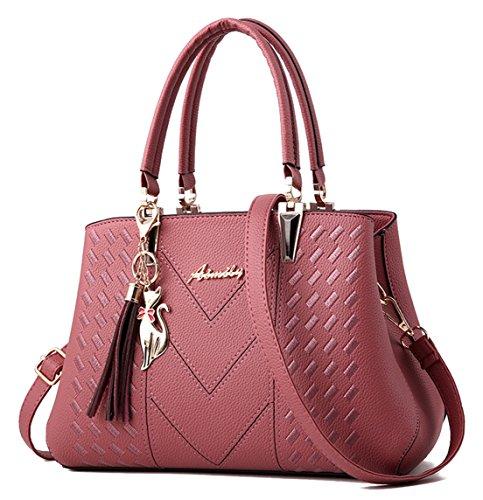 Pink Seaoeey Purse Top Gray Satchel Handle Bags Handbags Bag Women Shoulder Tote Messenger qqr67
