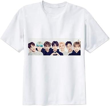 Monsta X Camiseta Popular Super Camiseta para Hombre de Manga Corta de algodón Sudor-Absorbente Camiseta Deportiva Unisex: Amazon.es: Ropa y accesorios
