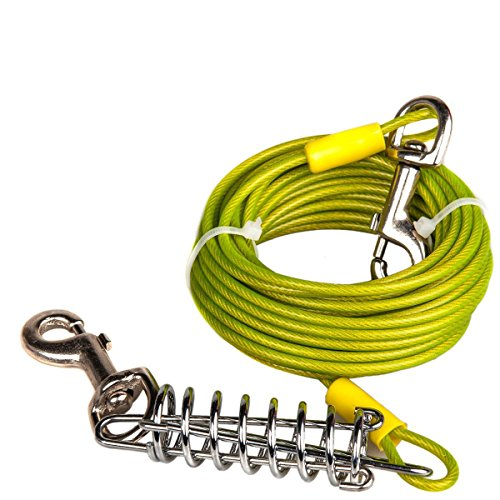 Favorite Tie Out Cable for Dogs, 30-feet, 3 Colors (Out Green)