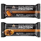 Ancient Nutrition Bone Broth Protein Superfood Bars, 2 Bars (Trial Pack) - Gluten Free, Naturally Flavored, Non GMO