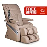 Therapeutic Shiatsu Reclining Massage Chair- Osaki OS-1000 with Intelligent Roller System, Added Neck Massage and Fatigue Relieving Adjustable Air Massage (Cream)