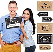 Big Dot of Happiness Engagement Announcement - Photo Prop Kit - 10 Count