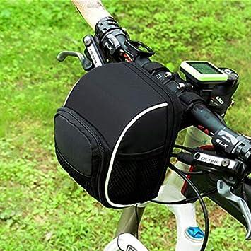 trancoss Bicicleta Bolsas de Manillar Bicicletas de Tubo Frontal, Multi-Function Impermeable Bolsa de Bicicleta con Lluvia Cubierta