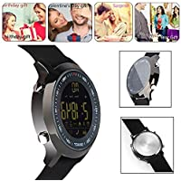 Bluetooth Smart Watch Waterproof Smartwatch Sports Smart Watches for Men Women Boys Kids Android IOS iphone Samsung Huawei with Pedometer Fitness Tracker SMS Call Reminder (Black)