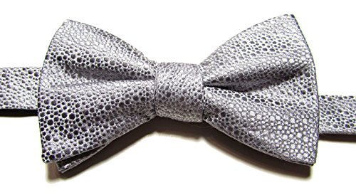 Alfani Men's Silk Blend Bow Tie, Silver from Alfani