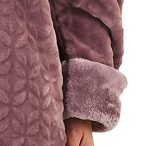 Slenderella Ladies Faux Fur Hooded Dressing Gown Super Soft Shawl Collar  Bath Robe  Amazon.co.uk  Clothing 05deac249
