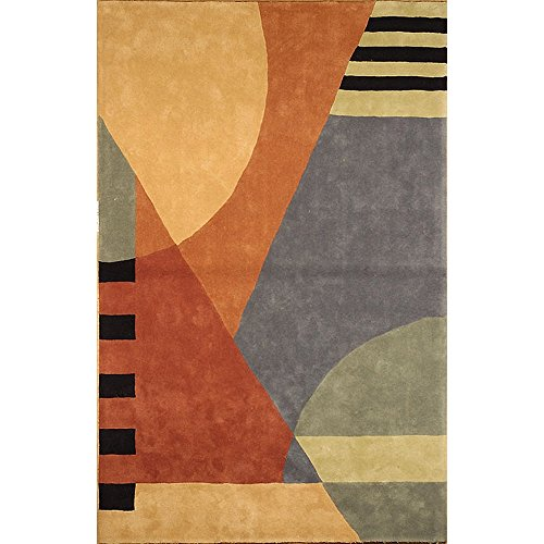 Safavieh Rodeo Drive Collection RD863A Handmade Modern Abstract Gold Wool Area Rug (5' x - Drive Collection Rodeo