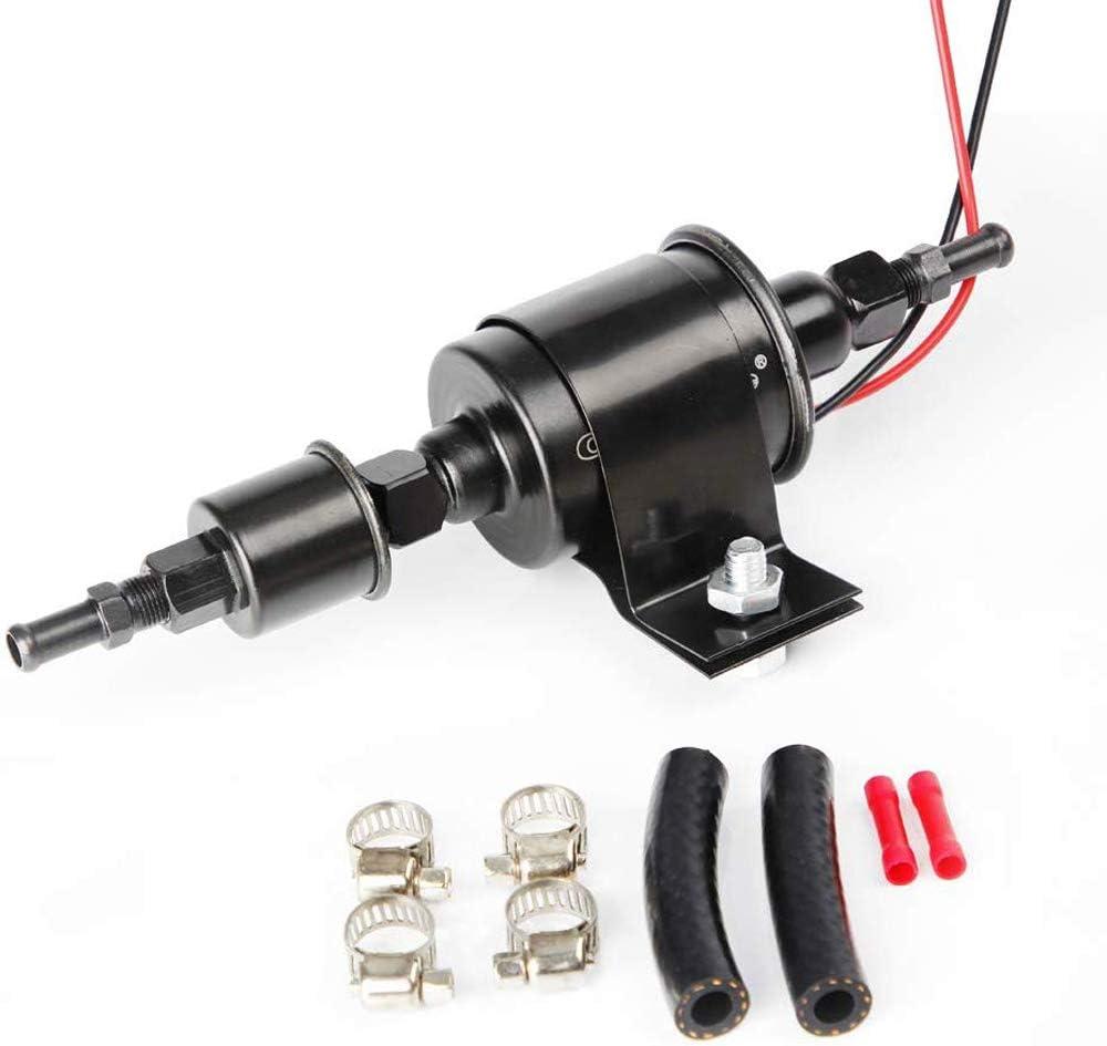 referencia cruzada E8012S FD0002 5-9 psi con kit de instalaci/ón Bomba de combustible el/éctrica universal Bomba de transferencia de combustible autocebante de 12 V 5//16 de pulgada