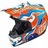 Troy Lee Designs Galaxy SE3 MX Motorcycle Helmet - Blue/Orange / 2X-Large