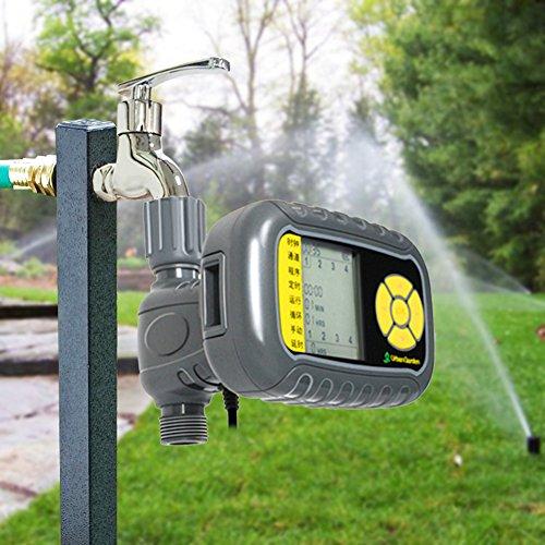 Foerteng Lawn Sprinkler, Automatic Controller Solar charging pool Garden Irrigation Watering