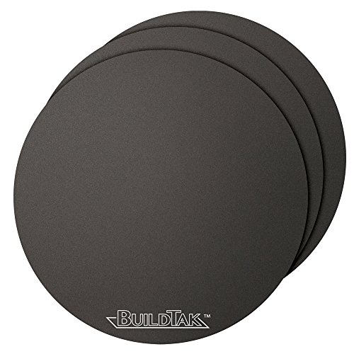 BuildTak 3D Printing Build Surface, 6.5'' Diameter Round, Black (Pack of 3) by BuildTak