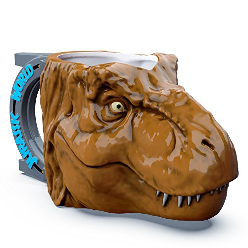 Zak Designs Jurassic World T-Rex Dinosaur Unique 3D Character Sculpted Ceramic Coffee Mug, Collectible Keepsake and Wonderful Tea Mug (11 oz., T-Rex Dinosaur, BPA-Free) (Coffee Mugs Park)