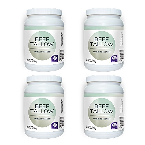 Save $$ MD.LIFE Beef Tallow 1 Gallon 4-32 Oz Tubs - Compare to Beef Tallow, Grass-Fed, Kettle Rendered and Fine Filtered, by MD.LIFE (Image #7)