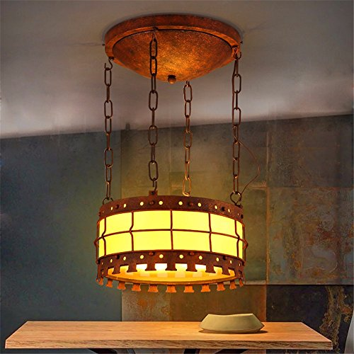 Leihongthebox Vintage Clear Shade Industrial Hanging Ceiling Pendant Light Fixture Acrylic iron chandeliers, and lamps: 3316cm 3210cm, chassis: