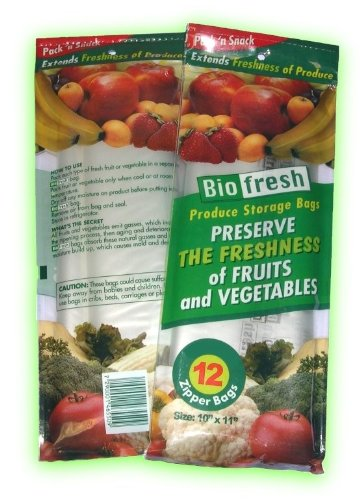 BioFresh Produce Storage Zipper Bags 2 Packs (24 bags) & Amazon.com: BioFresh Produce Storage Zipper Bags 2 Packs (24 bags ...