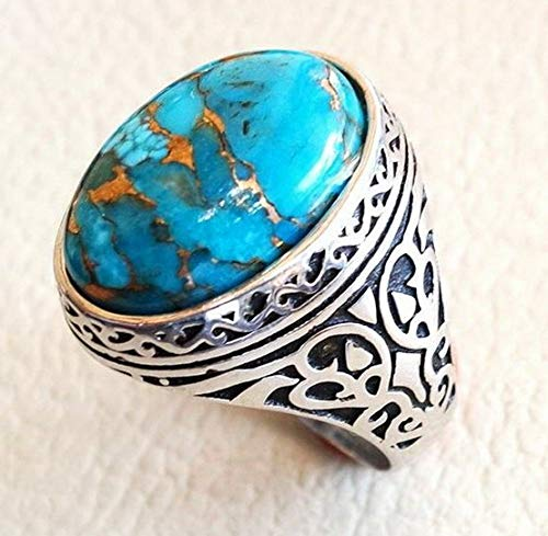 Endicot 925 Silver Aquamarine Topaz Turquoise Women Jewelry Gift Wedding Ring Size 6-10 | Model RNG - 18247 | 10