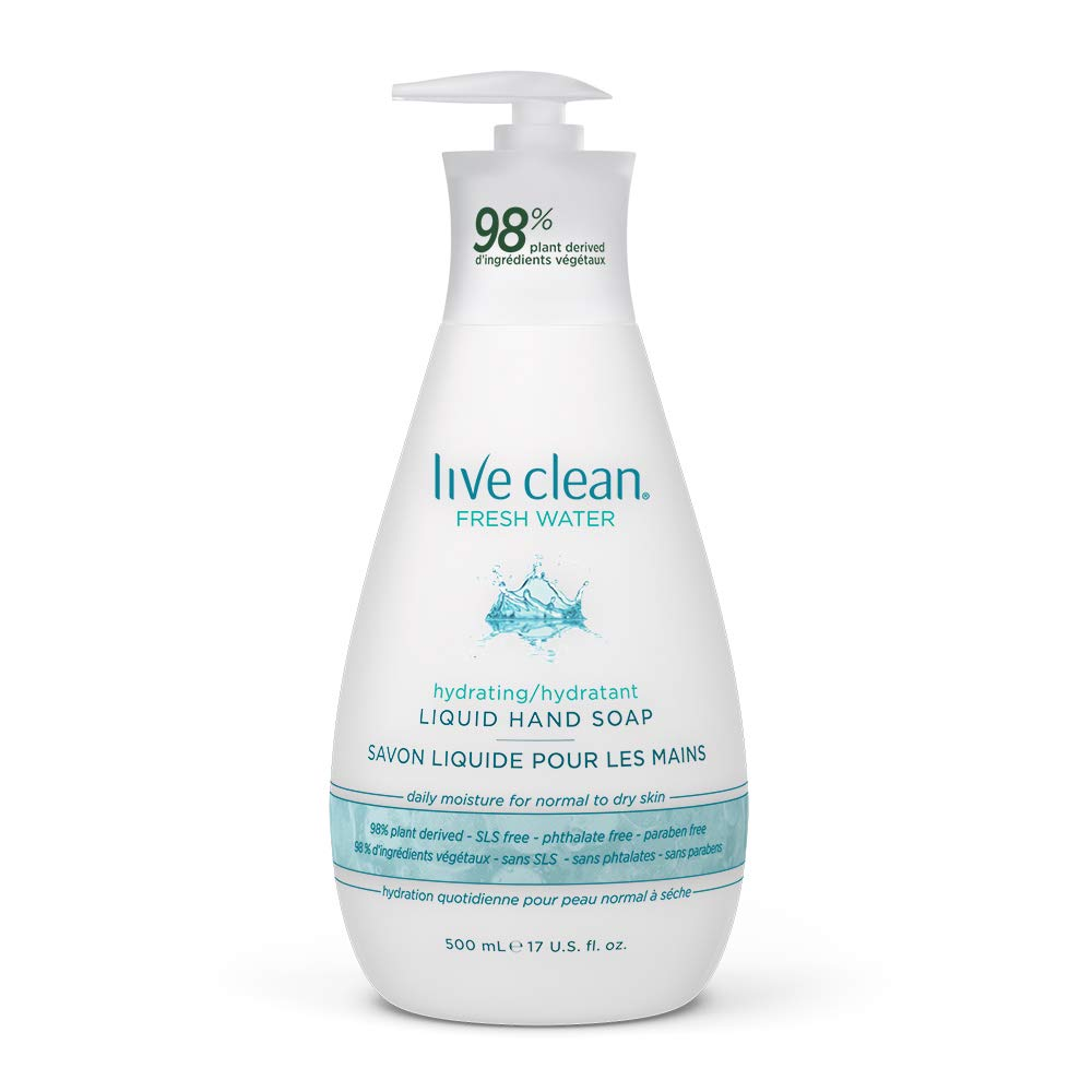 Live Clean Fresh Water Hydrating Liquid Hand Soap, 500 mL product image