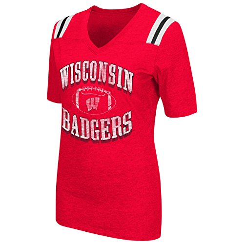 Wisconsin Badgers Womens Red Showtime T-Shirt Large