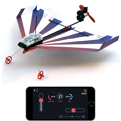 PowerUp Aerobatic Smartphone Controlled Paper Airplane, Blue