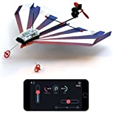 PowerUp Dart Aerobatic Smartphone Controlled Paper Airplanes Conversion Kit - Durable Remote Controlled RC Airplane, iOS and Android App