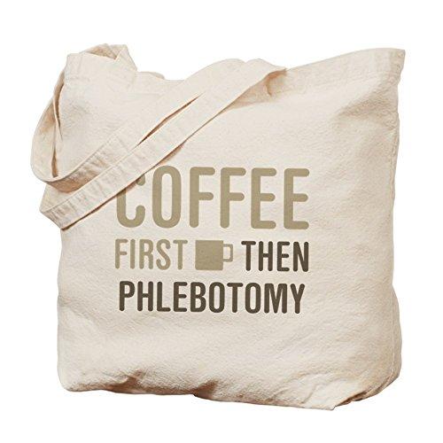 CafePress–café entonces PHLEBOTOMY–Gamuza de bolsa de lona bolsa, bolsa de la compra