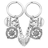 Mother Daughter Gift Keychain - 2PCS Mom Daughter Gift Set for Birthday Christmas
