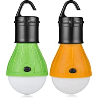 Eletorot Set Carpa Lámpara Camping LED Iluminación de Emergencia COB 150 LM para Camping Pesca de Aventura Garaje Caso…