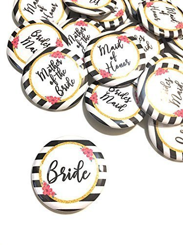 10 pcs kate spade inspired maid of honor bridesmaids mother of bride badge pin pinback button