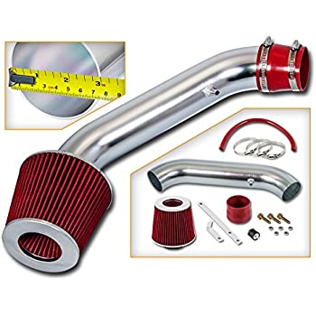 Full Set Cold Short Ram Air Intake Kit RED For 90-93 Integra 1.7L//1.8L I4