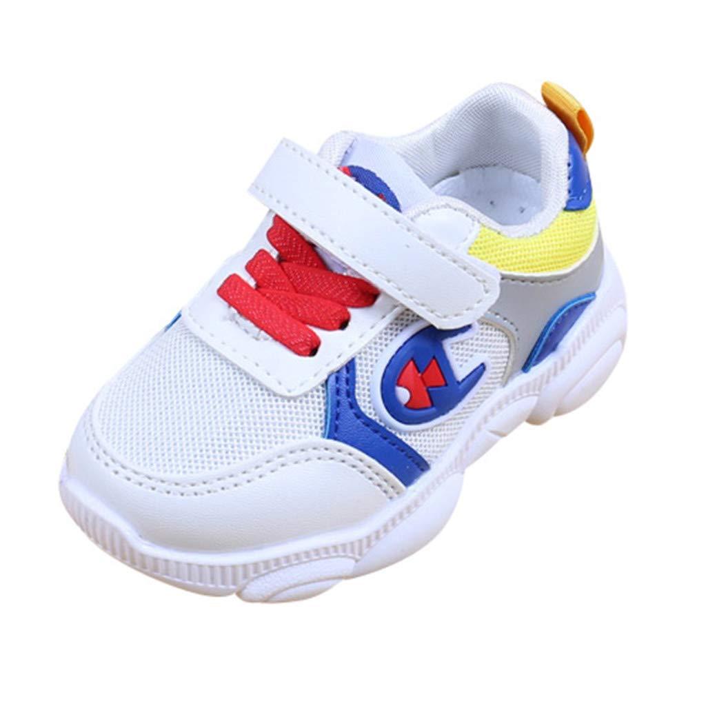 KUKICAT Basket Enfant Unisexe Chaussures De Sport Respirantes Maille épissage Printemps, Casual Mode Scratch Elastique Running Extérieur Confortable Pas Cher Soldes Sneakers