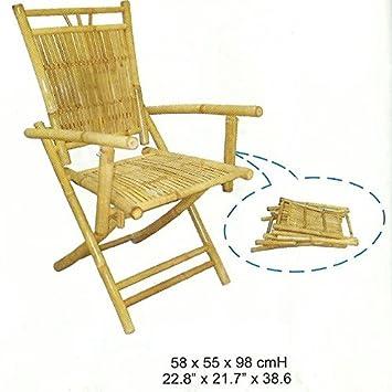 Pliante Dossier De Jardin Idéale Bambou Kienlam Chaise À En Haut xBerdoC