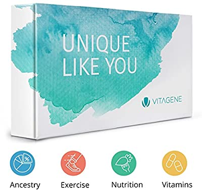 Vitagene DNA Test: Health + Ancestry Personal Genetic Test - Diet + Exercise + Vitamin Assessment for Personal Care