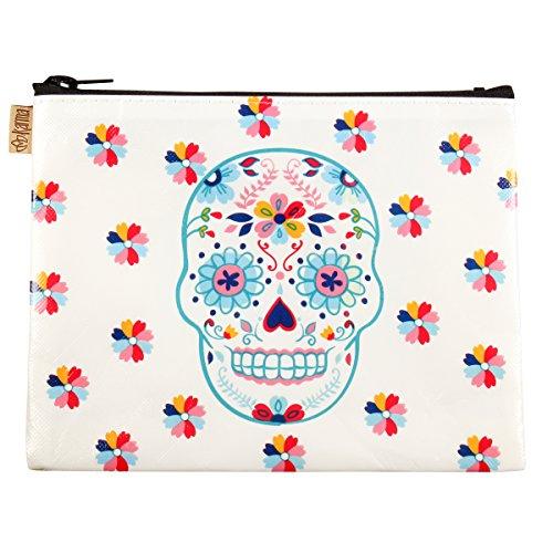 Karma Gifts Fiesta Bonita Cosmetic Bag, Sugar Skull for $<!--$5.00-->