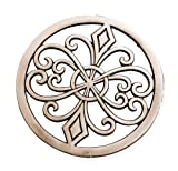 DII Round Flourish Cast Iron Trivet Set of 2