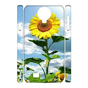 GGMMXO Sunflower Shell Phone Case For Samsung Galaxy S4 i9500 [Pattern-1]