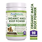 Pure Naturals USDA Certified Organic Maca Root Powder- 16 oz (1 lb)- GMO Free- Supports Healthy Mood, Hormonal Balance,...