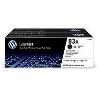 HP 83A CF283AD, Negro, Cartucho Tóner Original, Pack de 2, para impresoras HP LaserJet Pro MFP serie M125, M127, M201 y…