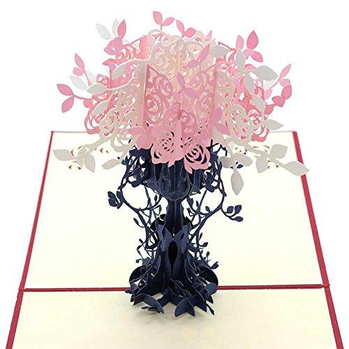 3D Pop Up Handmade Card for Mother's Day, 3D Father's Day Greeting Card, 3D Greetings Card for Parents (Bouquet)