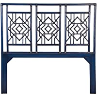 David Francis Furniture Tulum Headboard, Queen, Indigo