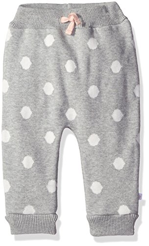 Rosie Pope Little Girls Intarsia Sweater Knit Pants, Heather Gray, 12 Months - Sweater Knit Pants