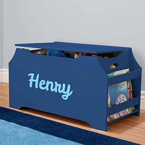 DIBSIES Personalization Station Personalized Dibsies Kids Toy Box with Book Storage - Boys (Blue)
