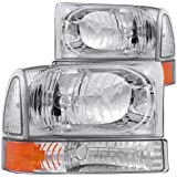 Anzo USA 111081 Ford Chrome with Corner Amber Headlight Assembly - (Sold in Pairs)