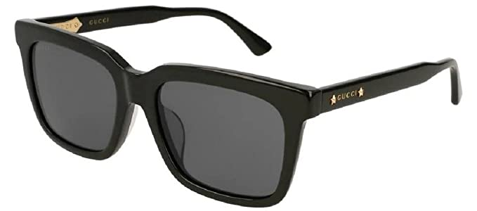 b897fe070c Amazon.com  Gucci GG 0267 SA- 001 BLACK GREY Sunglasses  Clothing
