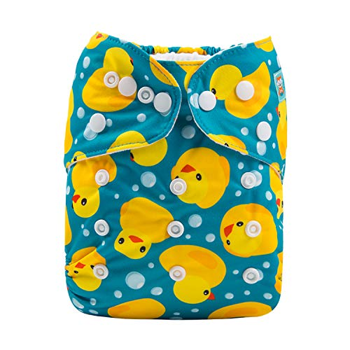 Alva Baby New Product Reuseable Washable Pocket Cloth Diaper Nappy + 2 Inserts (H114)